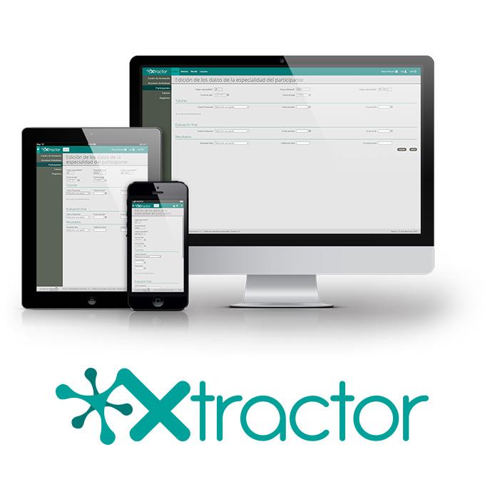 Aplicación Xtractor en ordenador, tablet y móvil