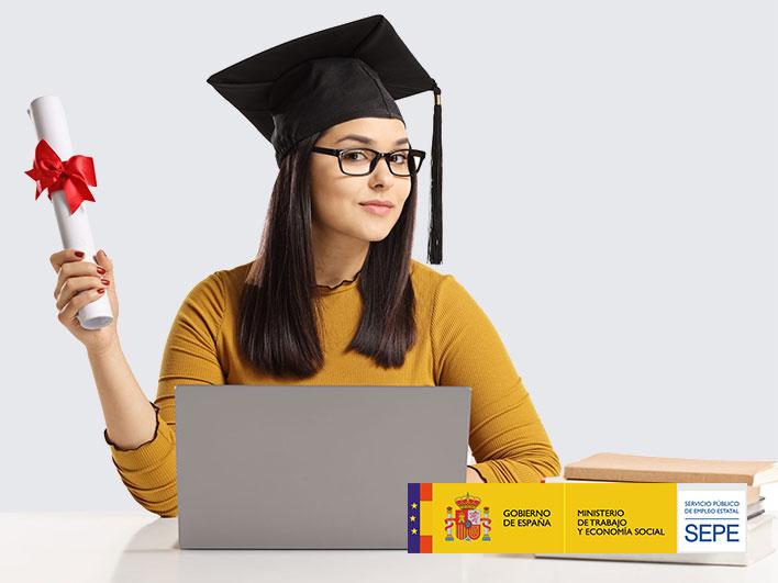 Chica con Certificado de Profesionalidad SEPE